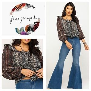 🖤 ❤️FREE PEOPLE MOSTLY MEADOW BLOUSE❤️🖤